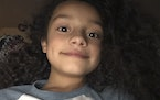 Trinity Ottoson-Smith, 9, was caught in crossfire while jumping on a trampoline on May 15. ORG XMIT: MIN2105272026100384