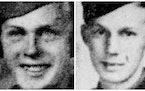 Army Air Corps Sgts. Russel Stark, 21, left, and Harvey Stark, 19.