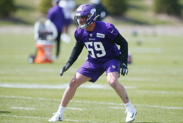 Vikings inside linebacker Cameron Smith, shown here in 2019, is coming back after having open heart surgery to correct a birth defect. COVID-19 testin