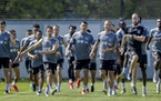 Minnesota United FC soccer players practiced at the National Sports Center earlier this month.
