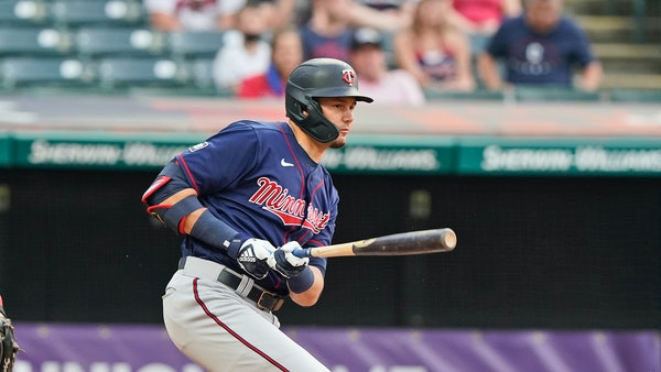 Twins outfielder Trevor Larnach wore a walking boot when the team traveled to Baltimore and got treatment instead of playing time Monday against the O