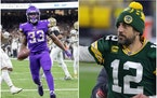 Dalvin Cook and Aaron Rodgers.