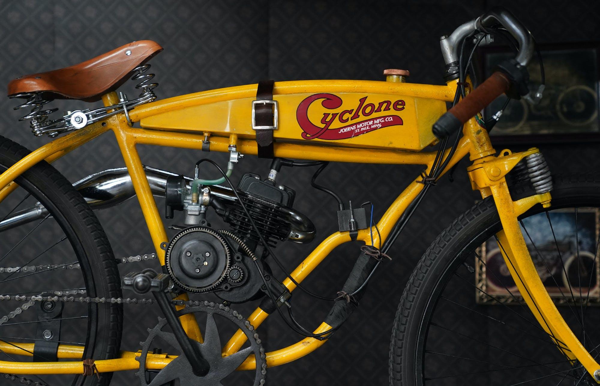 Detail of the Cyclone tribute bike.