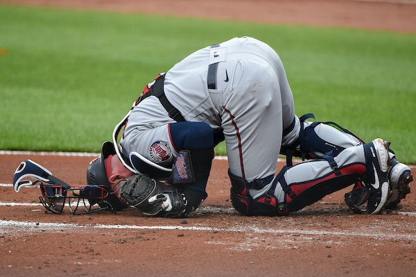 Garver's hospital visit turns into surgery after foul tip to the groin