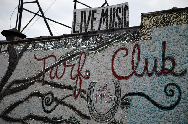 Live music will return inside the mosaic-covered walls of the Turf Club starting July 7.