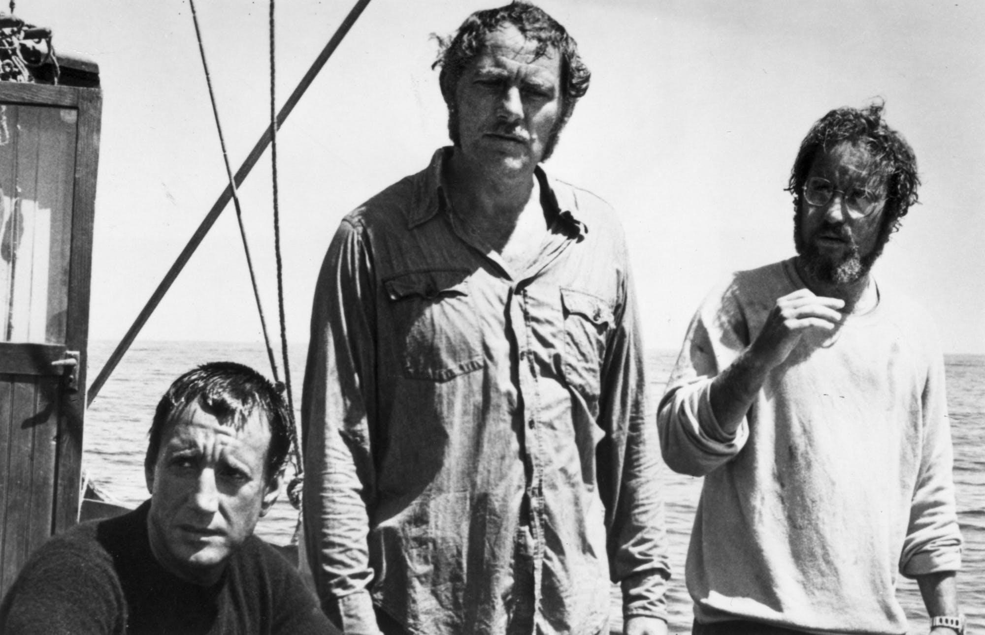 Roy Scheider, Robert Shaw and Richard Dreyfuss star in 'Jaws.'