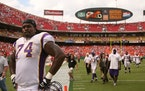 Former Vikings offensive lineman Bryant McKinnie, pictured in 2007.