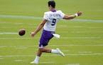 Minnesota Vikings punter Zach Von Rosenberg (9) practiced during Wednesday's offseason workout. ] ANTHONY SOUFFLE • anthony.souffle@startribune.co