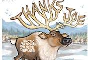 "Sack cartoon: Arctic National Wildlife Refuge says ""thanks"""