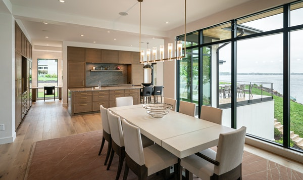 View of Lake Minnetonka from the kitchen and informal dining area. A pocket office in the left background.         ] GLEN STUBBE • glen.stubbe@start