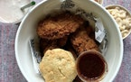 Vegan fried chicken from Herbie Butcher's Fried Chicken