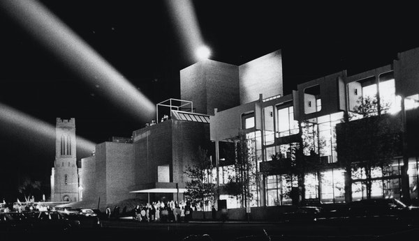 The 1971 opening of the Walker's new building.