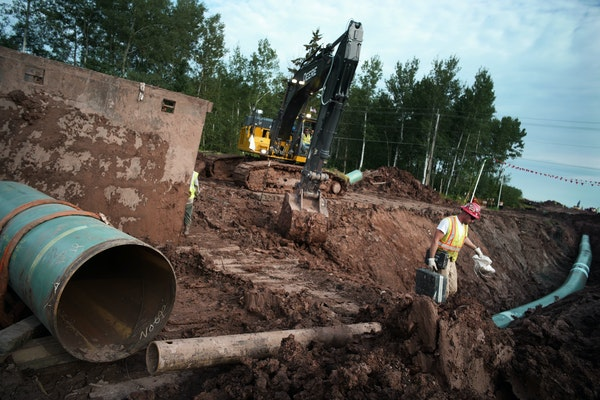 Enbridge is in its final push to complete its Line 3 oil pipeline in northern Minnesota. It will connect to a terminal in Superior, Wis.