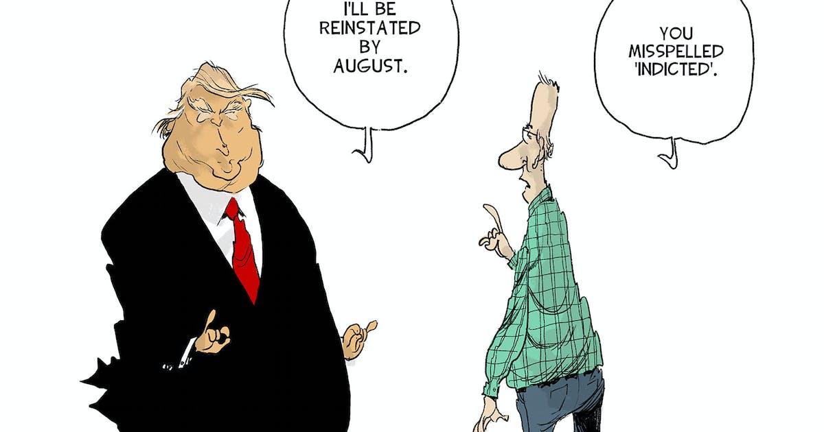 Editorial cartoon: Drew Sheneman on Trump's future