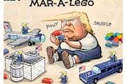 Sack cartoon: Mar-a-lego