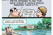 Sack cartoon: Renaming Ham Lake