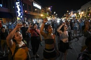Protesters took part in the Assata Shakur chant during Saturday night's protest near the site of where Winston Smith was fatally shot by law enforce