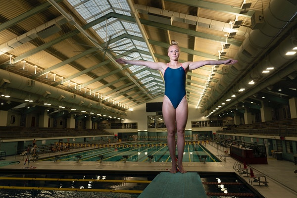 Former U diver Bacon, Cook hold second place after Olympic trials preliminaries