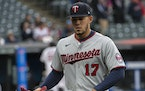 Minnesota Twins starting pitcher Jose Berrios leaves the the mound during the sixth inning of a baseball game against the Cleveland Indians, in Clevel