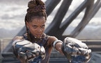 """In """"Black Panther,"""" Shuri (played by Letitia Wright) creates an array of gadgets and gear."""