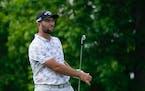 Jon Rahm during the third round of the Memorial golf tournament on Saturday in Dublin, Ohio.