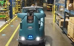 The T16AMR is an autonomous electric floor cleaner from Eden Prairie-based Tennant Co.