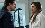 "Annabeth Gish co-stars with Warren Christie in a Lifetime thriller, ""Gone Mom."""