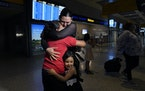 Emely, left, is reunited with her mother, Glenda Valdez and sister, Zuri, at Austin-Bergstrom International Airport, Sunday, June 6, 2021, in Austin,