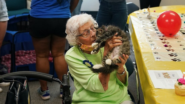 Animal Humane Society throws birthday party for 100-year-old volunteer