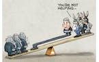 Sack cartoon: Joe Manchin's policy break