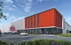 Rendering of CRG's massive speculative distribution center development in Dayton, Minn. The 1 million-square-foot project is expected to be finished