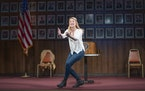 """Heidi Schreck in the Broadway production of her play """"What the Constitution Means to Me."""" Schreck's play will be the first performed at the Guth"""