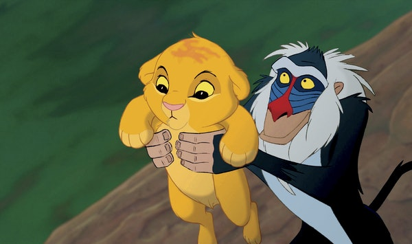 """Simba and Rafiki in the """"The Lion King."""""""