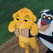 """Simba and Rafiki in the """"The Lion King"""" in an undated handout photo. On Friday, Disney will be releasing a new 3-D version of """"The Lion King"""""""
