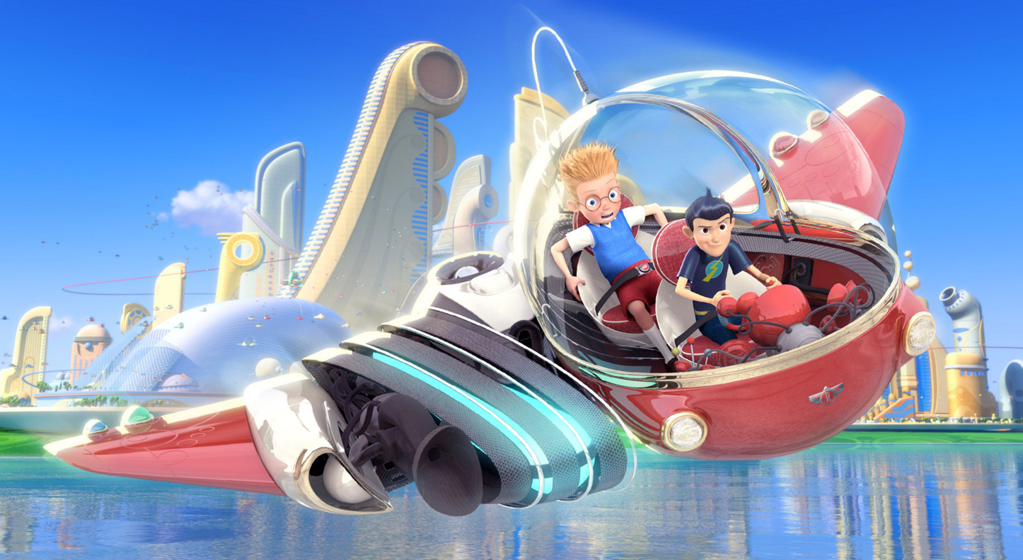 Wilbur and Lewis in 'Meet the Robinsons.'