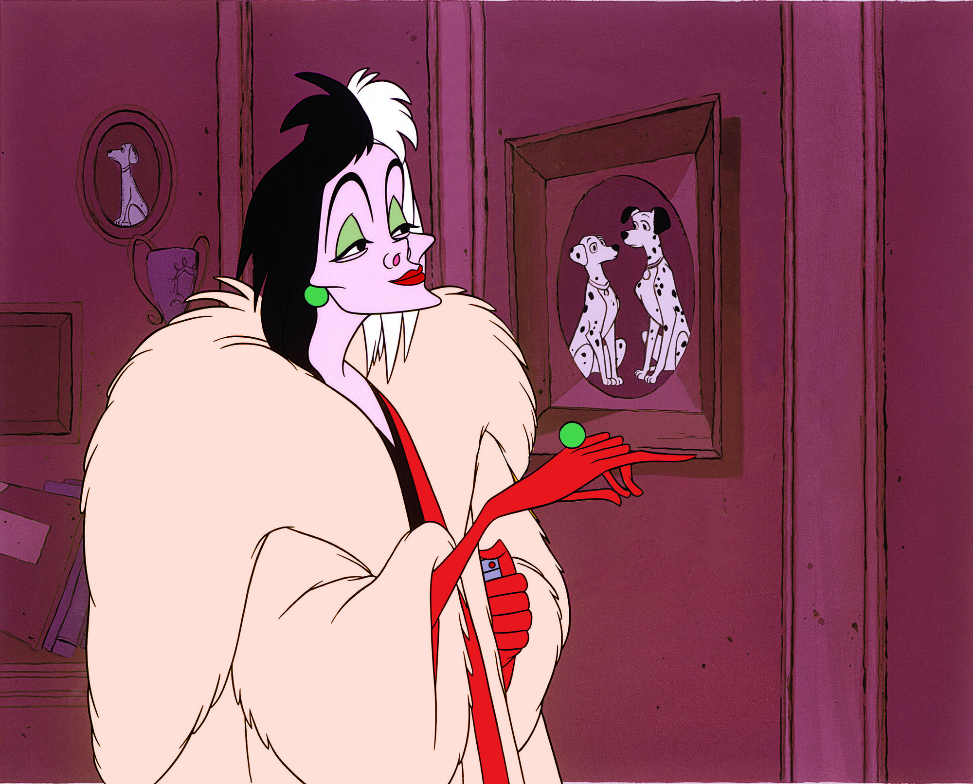 Cruella De Vil has her eyes on 'One Hundred and One Dalmatians.'