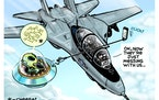 Sack cartoon: UFO report
