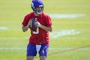 Vikings quarterback Kirk Cousins during Wednesday's practice.