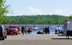 Rescuers searched for a 31-year-old man in the St. Louis River on Wednesday near Duluth's Boy Scout Landing. He had attempted to rescue two children