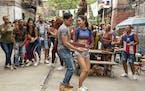 At top, Anthony Ramos as Usnavi and Melissa Barrera as Vanessa.   A chat with creator/star Lin-Manuel Miranda, page E3
