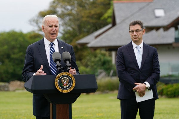 President Joe Biden speaks about his administration's global COVID-19 vaccination efforts ahead of the G-7 summit, Thursday, June 10, 2021, in St. I