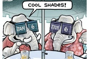 Sack cartoon: GOP has pulled down the shades