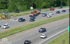 MnDOT crews made an emergency repair after a pavement buckled earlier this week on Hwy. 212 near Mitchell Road in Eden Prairie.