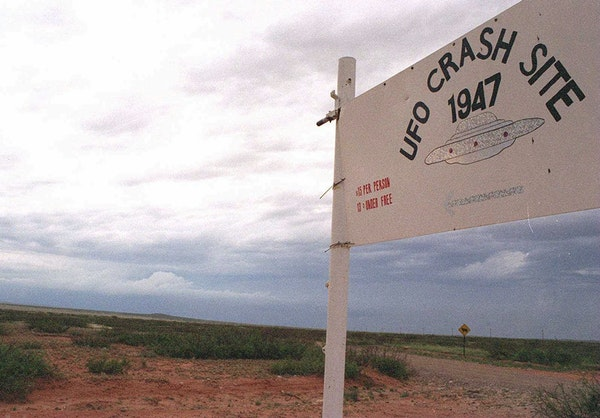 The sheep ranch near Roswell where the first flying saucer was said to have crashed in July 1947.