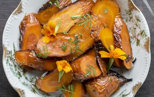 """Marigolds are a nice complement to carrots. The recipe is in Alan Bergo's new book, """"The Forager Chef's Book of Flora."""""""