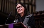 """Louise Erdrich read from her novel """"The Night Watchman"""" after it was published in 2020.   Photo by Richard Tsong-Taatarii, Star Tribune"""