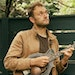 The musician Chris Thile with his mandolin at his home in New York, May 3, 2021. The 40-year-old mandolinist has found inspiration in groups, and as t