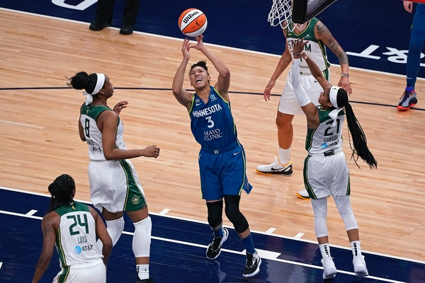 Aerial Powers grabbed a rebound against Seattle on May 20.
