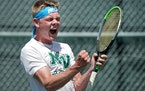 Class 2A boys' tennis individual and doubles championships.