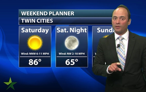 Evening forecast: Low of 67; clearing and more comfortable weather ahead